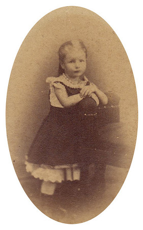 1874 Mamima, age 6. Mary Jane (Miller) Torpin has the original etching in her home in San Diego.