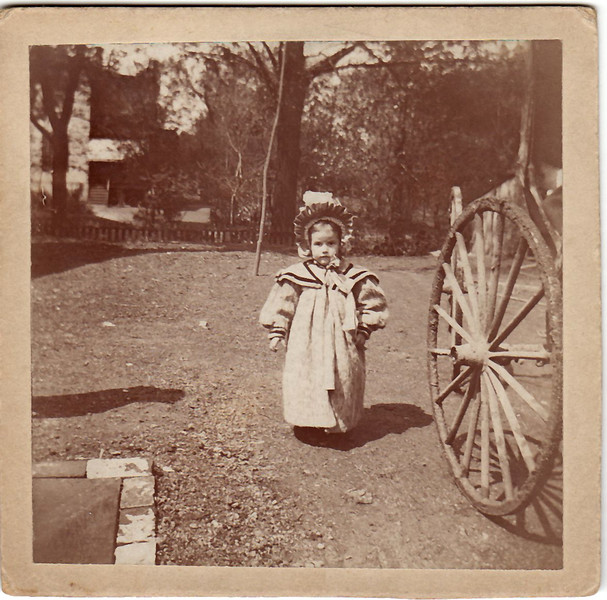 1899 May 11 Hedwig Wangelin with her dad's buggy. These cost between $50 and $100 at the turn of century.
