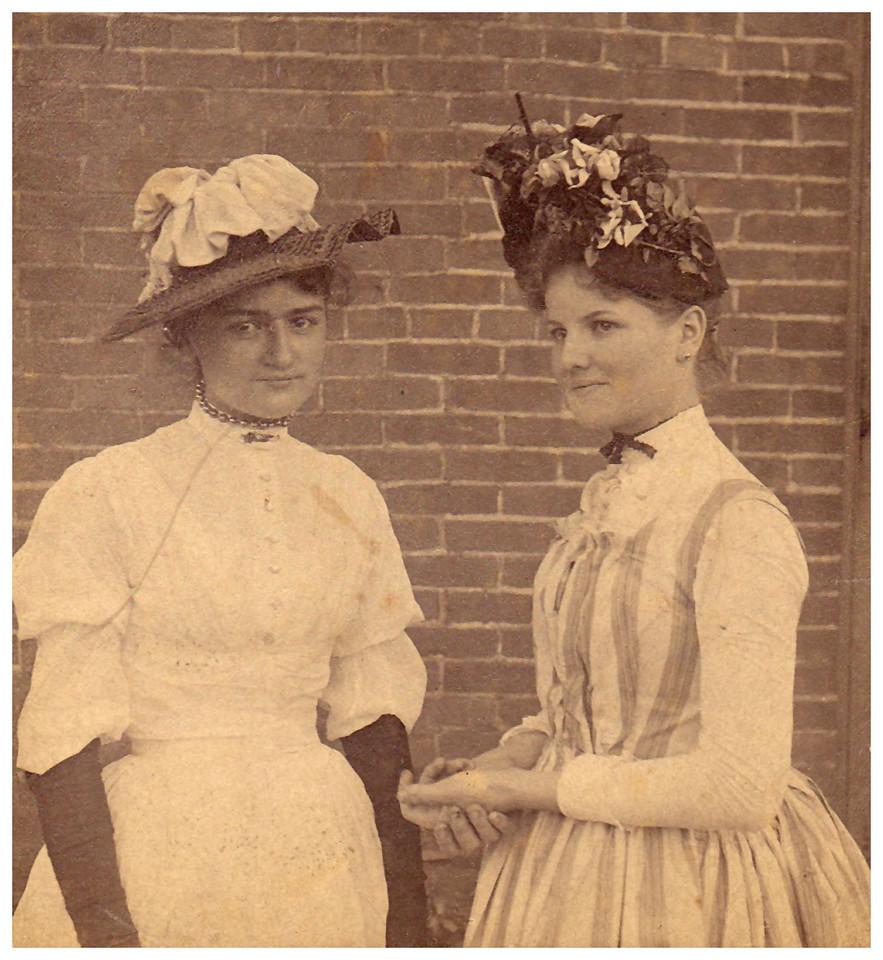 1890 Bertha (a friend) and Christiana Friederike (Mamima) Wangelin.