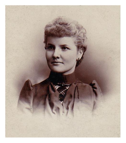 1891 Christiana Hartmann at age 23. Jane Krebs' Grandmother.