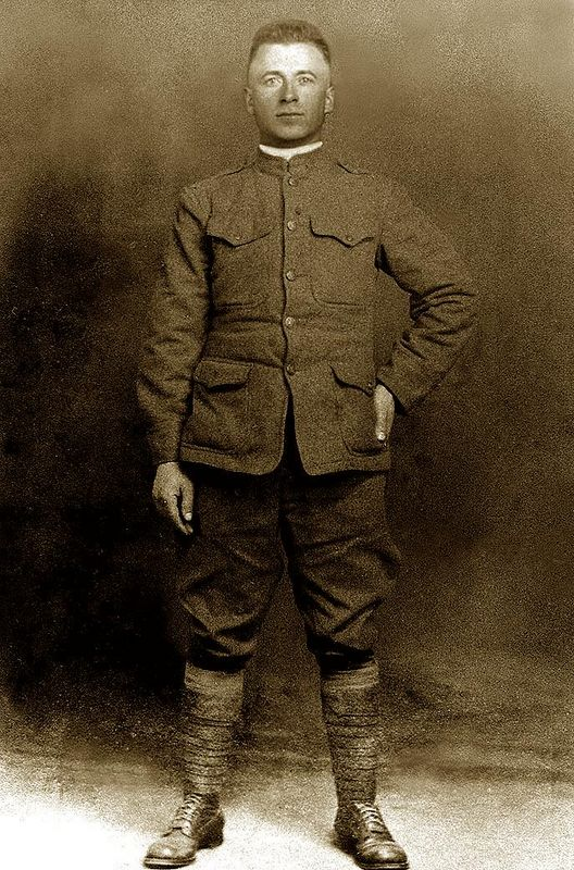 Tony Lombardi, In France, 125th Inf., Co. E. 32nd 'Red Arrow' Div., 1918, WW1