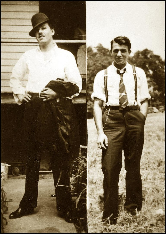 Burt Lombardi and Guy Lombardi Sr., ca 1934