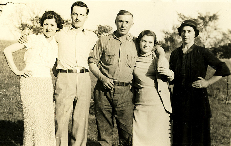 L-R, Margaret & Burt Lombardi, father Antonio Lombardi, niece Cara, and her mother Cara