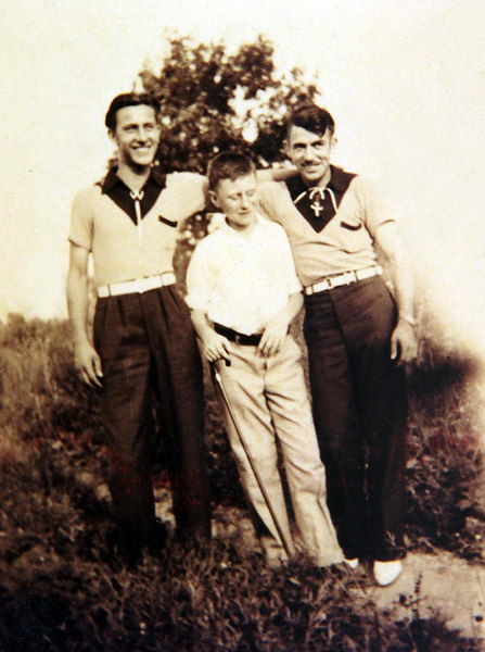 L to R, Modesto 'Marty' Lombardi (just after his return from Italy, at 18 years old), Pasquino 'Paul' Lombardi, Guido 'Guy' Lombardi. ca. 1937.