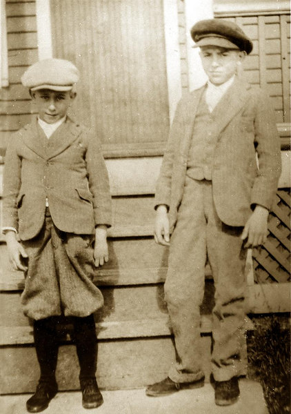 Brothers Modesto, and  Guy Lombardi Sr., 1927, just after the death of their mother.