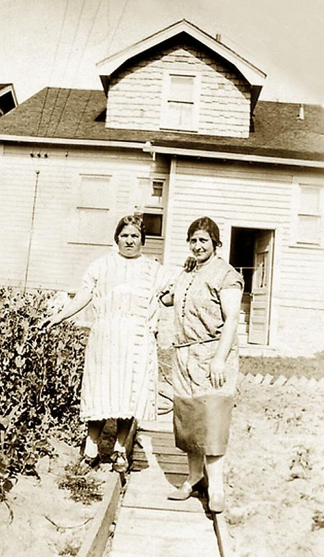 Mary (Fusi) Lombardi (on the right) with a friend.