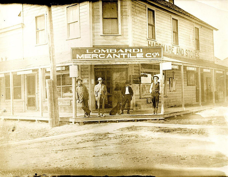 "LOMBARDI MERCANTILE CO., Rio Vista, Calif., ca. 1900. 11""x14"""