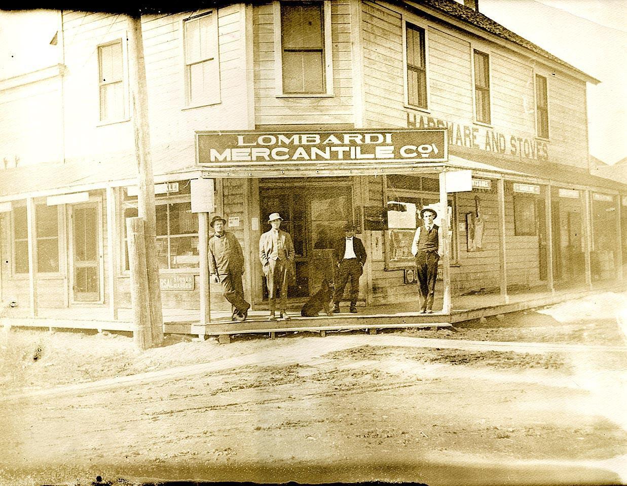 "LOMBARDI MERCANTILE CO., Rio Vista, Calif., ca. 1900. 11""x14"""