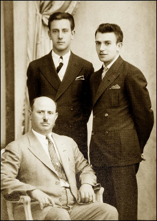 Guiseppe Lombardi, with sons Modesto and Guido. Ca. 1935.