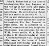 1913 - Hillsboro News-Herald Oct 16 Death of James T Fisher