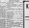 1913 - Newspaper - Emma Thompson sells lot in Lynchburg to John Laymon for $1