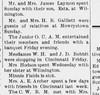 1911 - May - Este Laymon lives in Wilmington