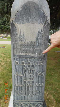 Logan UT Cemetery  - David D. Davis family headstones