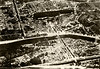Scan from Louis Rosen's journal from World War I, aerial photo of Chateau Thierry (detailed view).
