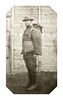 Scan from Louis Rosen's journal from World War I, Lou in uniform.