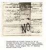 Scan from Louis Rosen's journal from World War I, transportation ticket.