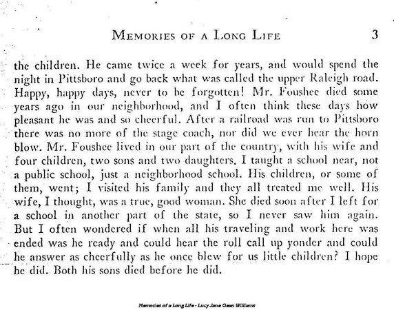 """Memories of a Long Life (page 3 of 33) - The Railroads silence the """"Old Stage Horn"""""""