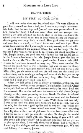 Memories of a Long Life (page 8 of 33) - Summer school at 5 - a Hag with a Wig - The Bribery Ring