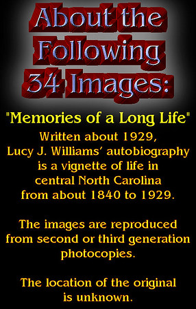 """About """"Memories of a Long Life"""""""