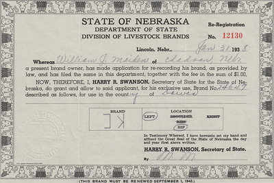 Re-registration of the Maiden brand - 1938