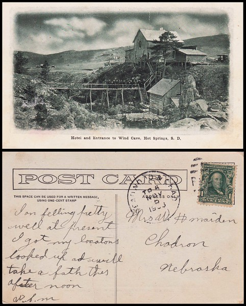 Early postcard from William J. Maiden to his mother