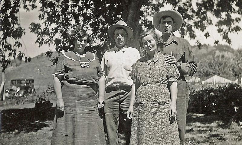 Leota Maiden, Bill Maiden, Ada Durham and Tom Durham