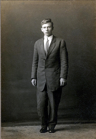 Leslie Dony Mapes- taken in 1912, shortly before his leg was removed due to tuberculosis of the bone.