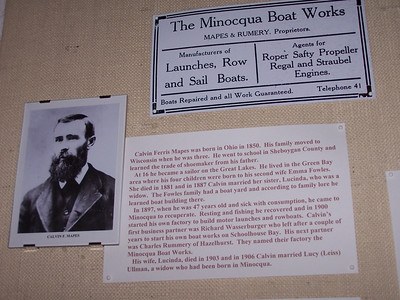 Calvin Mapes' family is the subject of an exhibit at the Minocqua Museum for 2008-2009.