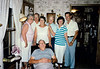 Seated: Larry Haase, back: Virgina & J.B. Marcotte, Anna Belle Haase, August Lehman, Helen & Leonard Marcotte
