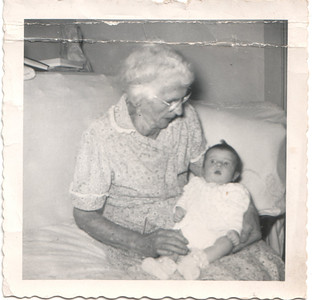 Grandma Margherita Lagomarsino and Great Great Grandaughter Cindy Gordon