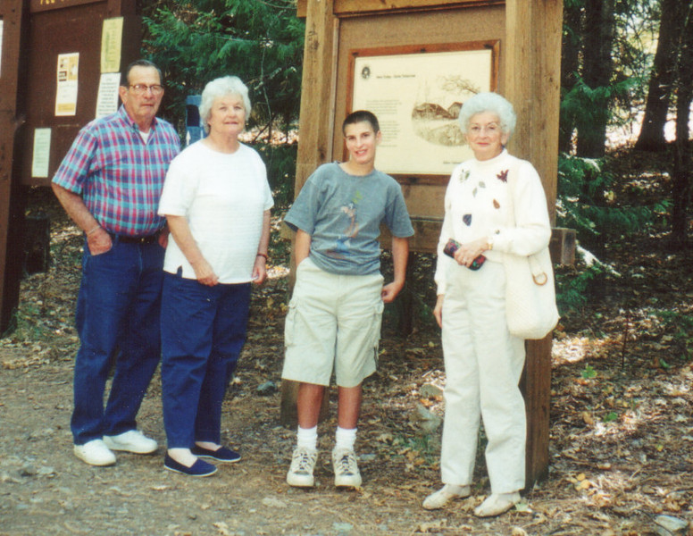 Sam, Carolyn and Evan Martini, Lucille (Orzalli) Gordon at Loganville