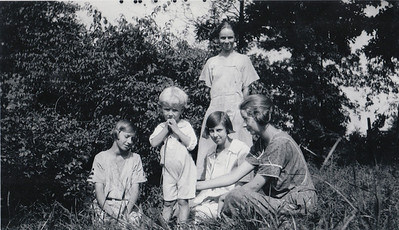 Liz, John, Vashti, Gladys, & Vernon (standing)