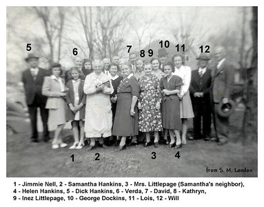 See annotation on photo for names
