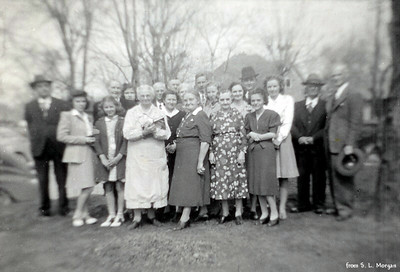See next picture for names of people who can be identified.
