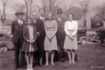 Will, Jimmie, Verda, David, Kathryn, George & Lois - (about 1941)