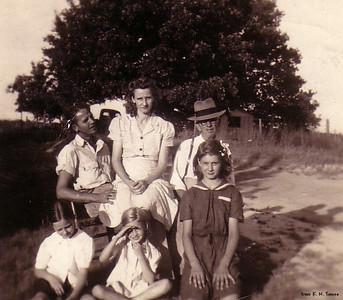 Front:  Betty, Martha, Jimmie Back:  Mel, Liz & Will