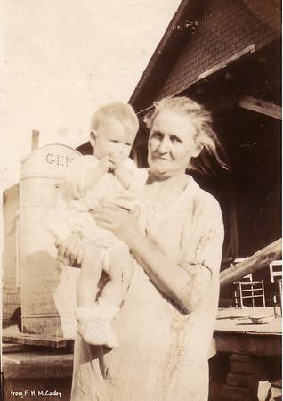 Verda and unidentified child.