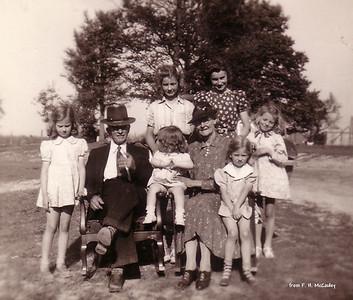 Front: Betty, Will, Jane, Verda, Martha Back: Jimmie, Liz, Margaret - (about 1941)