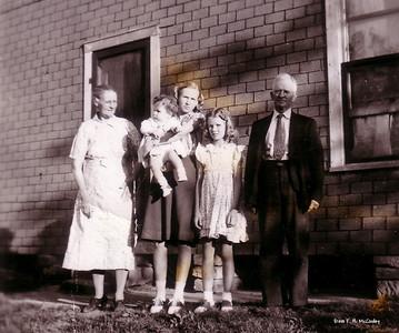 Verda, Kathryn holding George Ann, Jimmie & Will