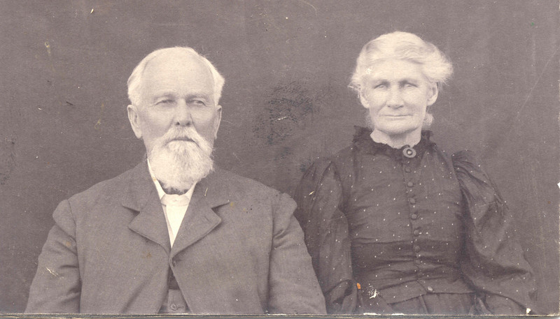 David S. Rhodes and his first wife Mary Ann Elizabeth Beale