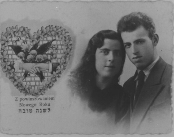 """How much we lost!""  Fischel and his wife.  They had one child.  All murdered at Treblinka."