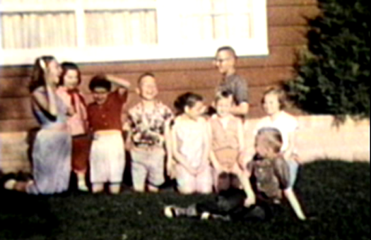 1959 Sioux City, IA Neighborhood kids in front yard of 3630 Jennings St.