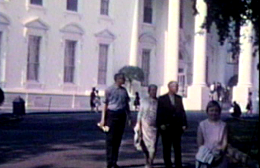 1963 Washington, DC Millers with Maa in circle driveway outside the White House.