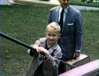 1956 Methodist Hospital, Sioux City, IA Coming home from double-hernia surgery.