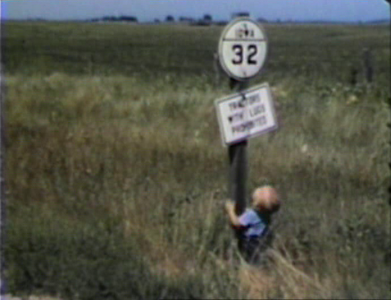 1947 Now Hwy. 86, north of Milford, IA Miles loved signs.