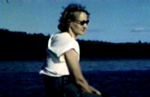 1952 Park Rapids, MN Jane Miller looking out over Lake Mantrap