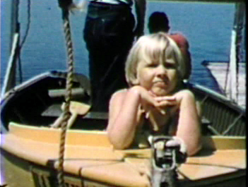 1957 Bayview Resort, Alexandria., MN MJ in  bow of boat.