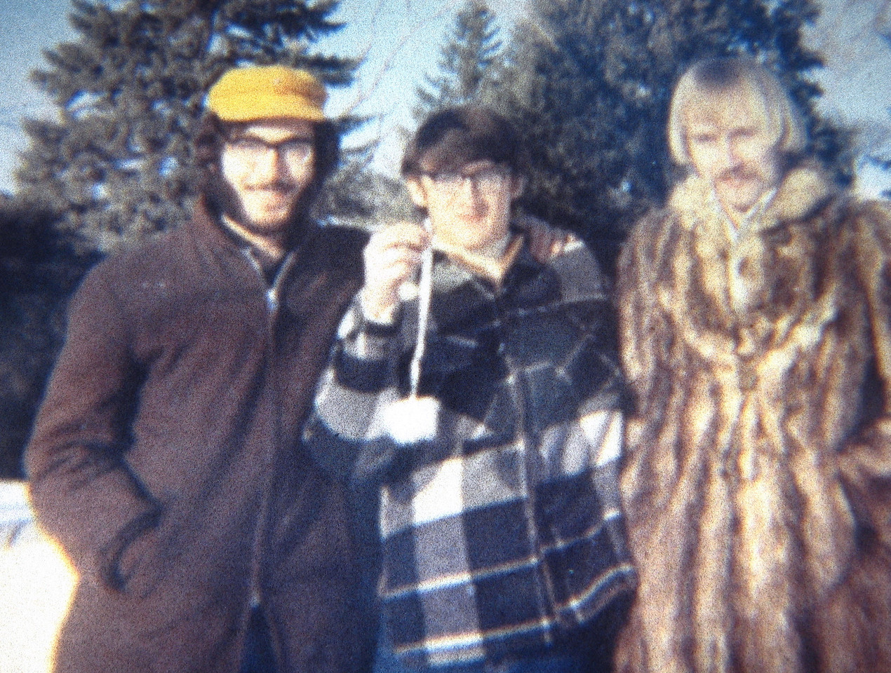 1971 Sioux City, IA Lee Samore, Jeff Kirby and Mark Miller in driveway of 3630 Jennings St.