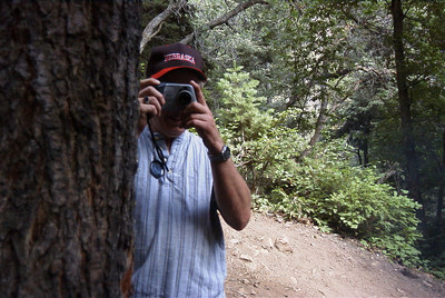 Tyler taking a picture of Craig at Millcreek Canyon