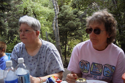 Gail and Rita in Millcreek Canyon in Utah for Family Reunion